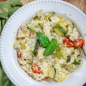 Roasted Vegetable and Chicken Risotto