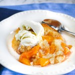 Peach Cobbler. This peach cobbler could not be easier to make or quicker to put together. Delicious, amazing, and can be made any time of the year.