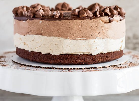 Peanut Butter Chocolate Mousse Cake