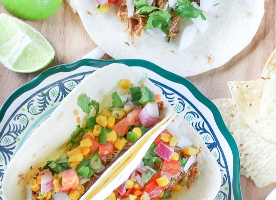 Chicken Lime Tacos (Instant Pot or Slow Cooker)