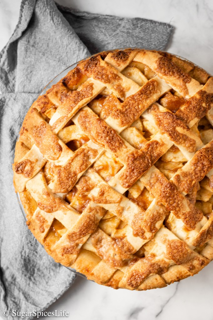 Buttery, flaky crust filled with soft, deliciously spiced apples and a crispy, sugary top. This Homemade Apple Pie will be your new favorite!