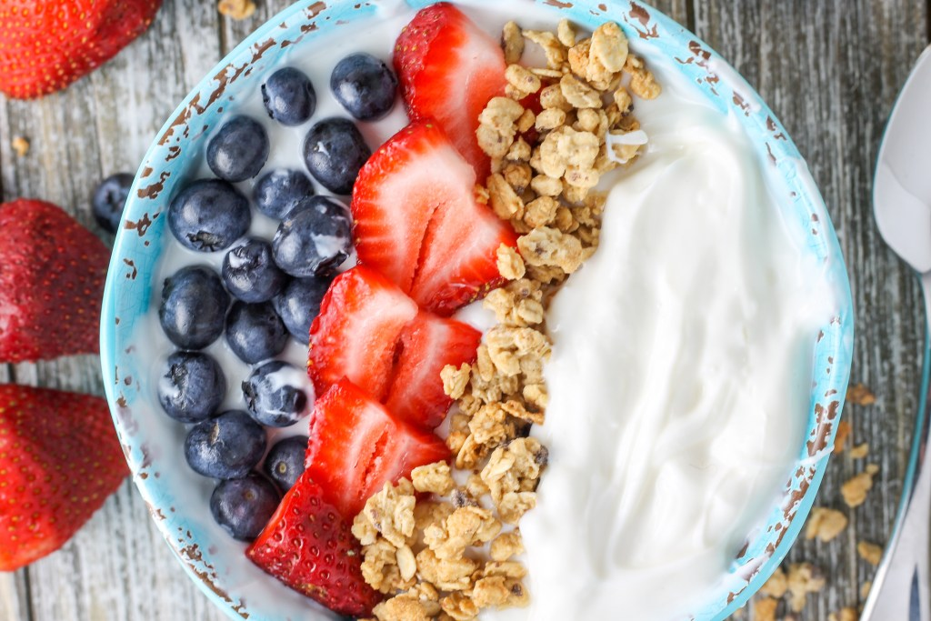 Instant Pot Yogurt. This yogurt takes about 3 minutes to put together, makes a ton, and is delicious! Plus, it's made with Fairlife lactose free milk, making it easier on those who are lactose sensitive.