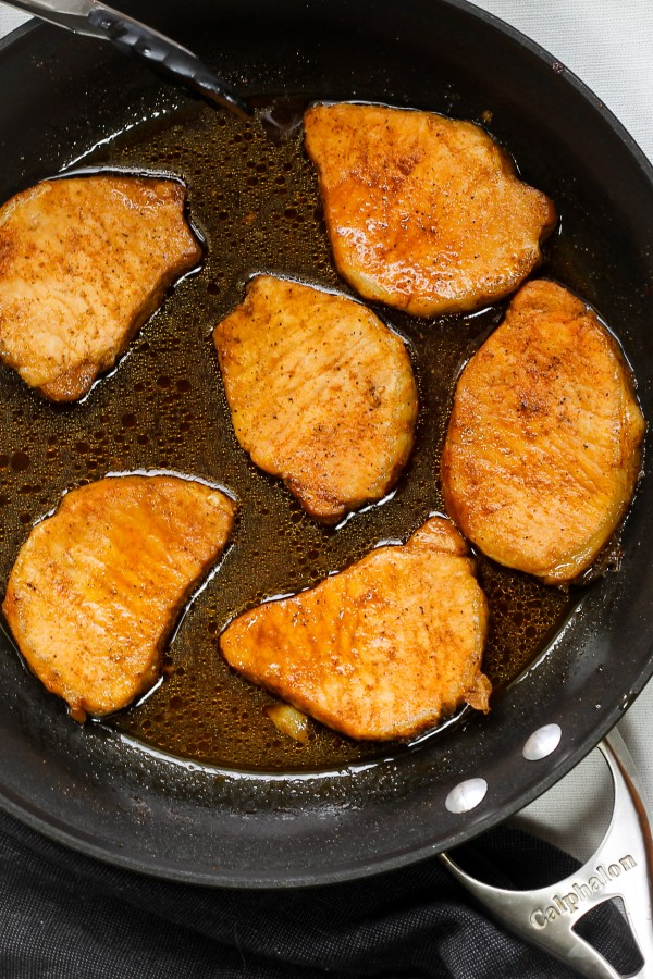 Sweet and Salty Pork Chops. Pork chops baked in a delicious brown sugar and soy sauce marinade. They're tender, flavorful, and all around amazing.