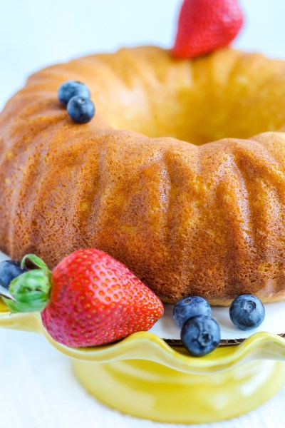 Hot Milk Cake. This cake couldn't be easier to make, but is delicious! Great on it's own or perfect dressed up with a sauce, fruit, or whipped cream!