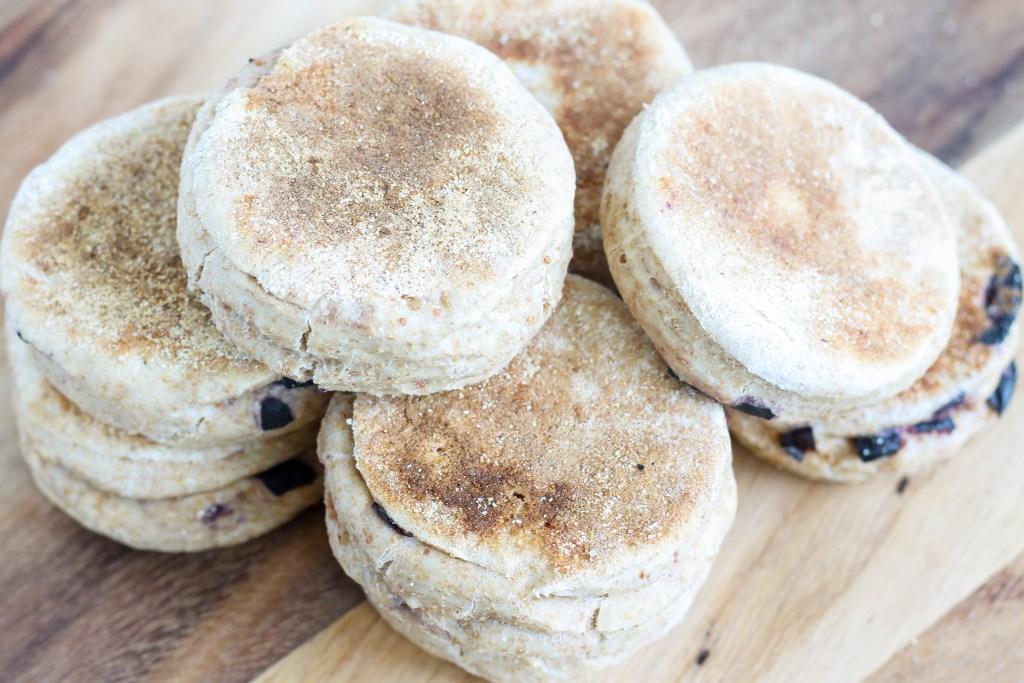 Blueberry English Muffins