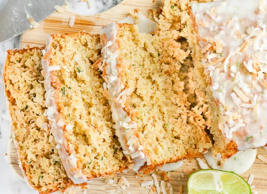 Toasted Coconut Lime Zucchini Bread