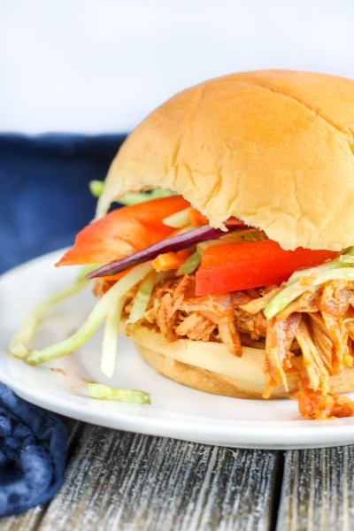 Shredded BBQ Chicken Sliders