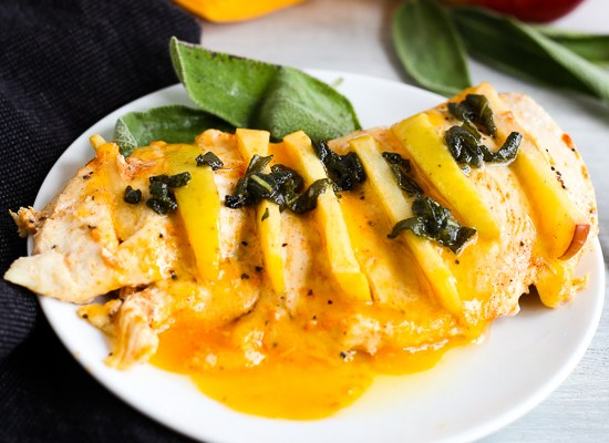 Apple Stuffed Chicken with Sage Sauce