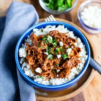 Instant Pot Chicken Mole. Tender chicken in a rich, flavorful mole sauce. Cooked in an Instant Pot, it's easy and fast to make!