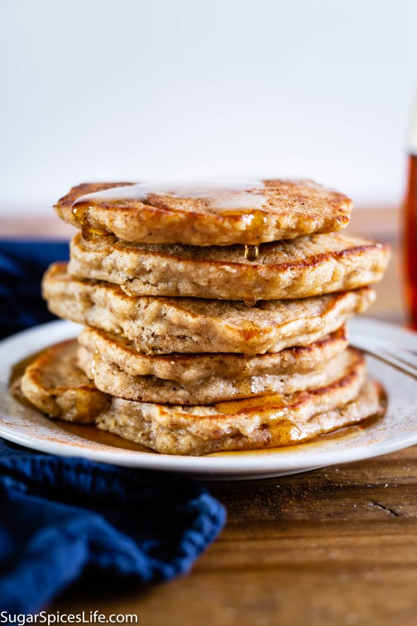 Apple Cider Pancakes. Soft pancakes made with fresh apple cider and apple pie spices. Soft, sweet, and all around amazing. Perfect for a fall brunch or breakfast!