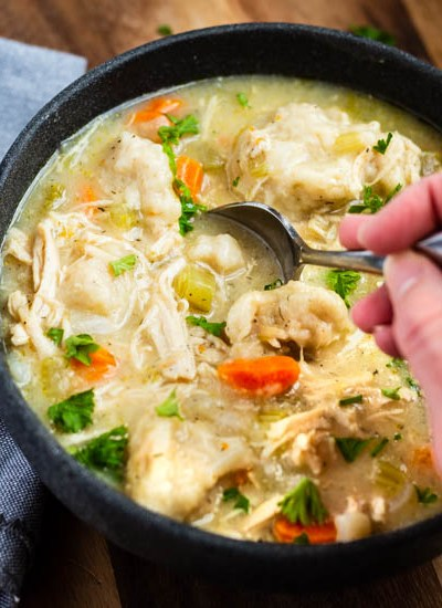 Instant Pot Chicken and Buttermilk Dumplings