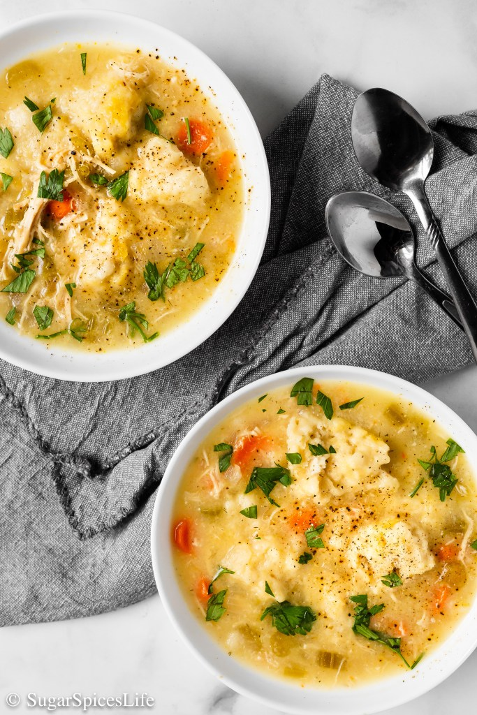 Deliciously seasoned chicken and vegetable soup with savory buttermilk dumplings. This Instant Pot Chicken and Buttermilk Dumplings recipe is quick and easy to make in an Instant Pot or other pressure cooker!