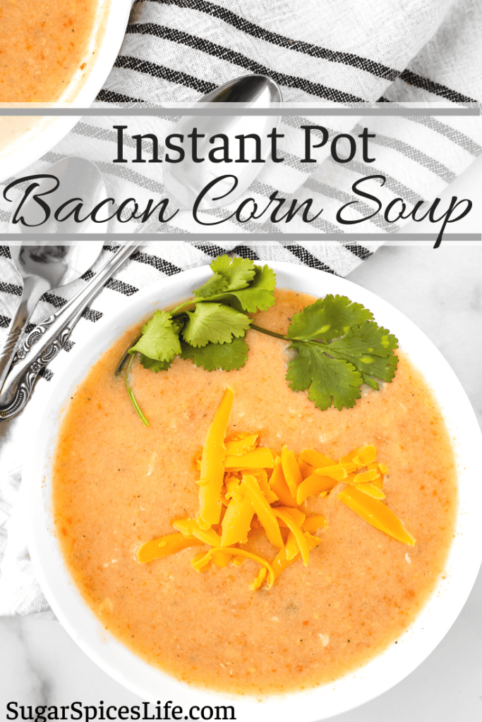 Creamy, filling bacon and corn soup that is packed full of flavor. This Instant Pot Bacon Corn Soup is quick and easy to make in a pressure cooker.