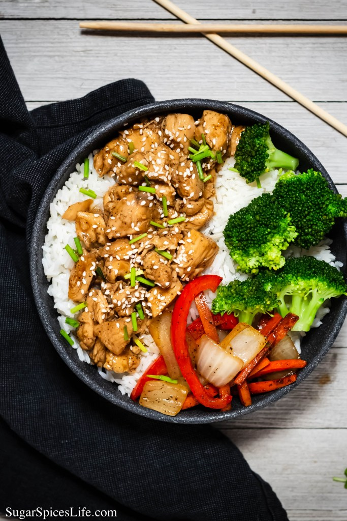 This Teriyaki Chicken with Vegetables is a delicious dinner that will make everyone think you got take out! It's not difficult to make and is full of delicious flavor.
