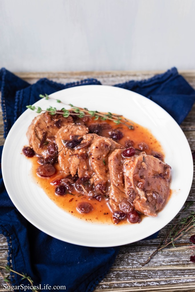 This Instant Pot Cranberry Pork Tenderloin is a juicy pork tenderloin covered in a delicious cranberry sauce, made quickly and easily in an Instant Pot.