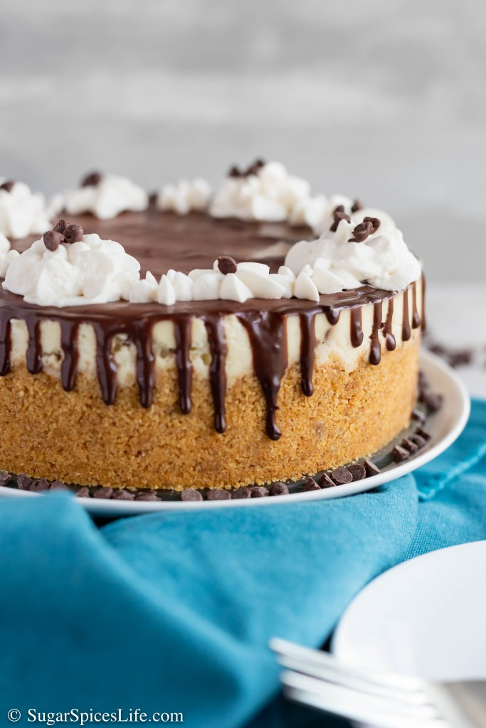 This Instant Pot Chocolate Chip Cheesecake is creamy, delicious, and easy to make in an Instant Pot. You'll never want to make a cheesecake any other way.