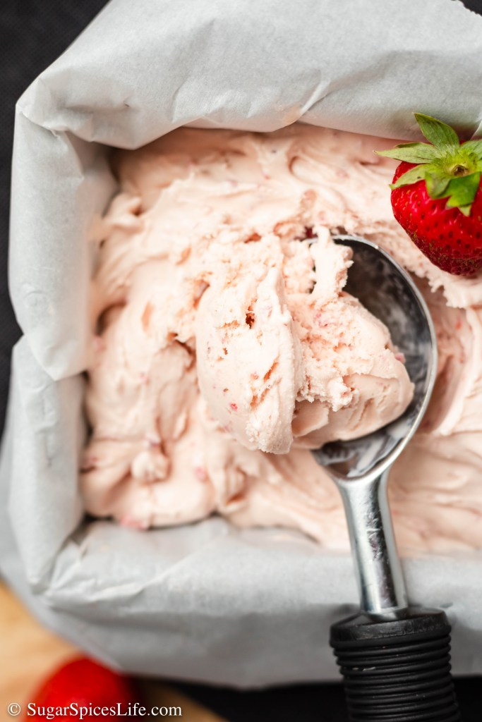 Creamy, delicious custard ice cream flavored with fresh strawberries. This homemade Strawberry Custard Ice Cream will be one of the best strawberry ice creams you ever eat!