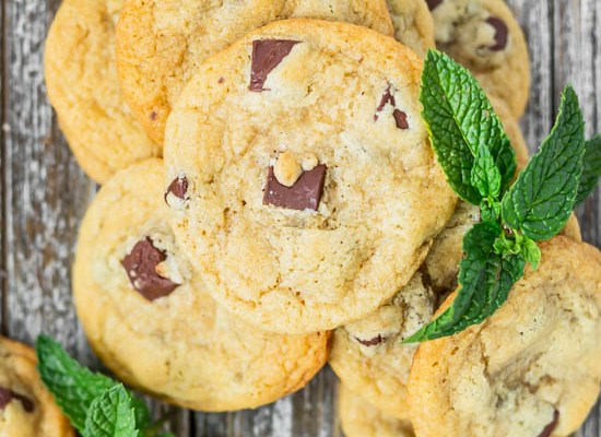Mint Chocolate Chunk Cookies