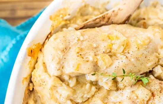 Lemon Thyme Chicken Casserole