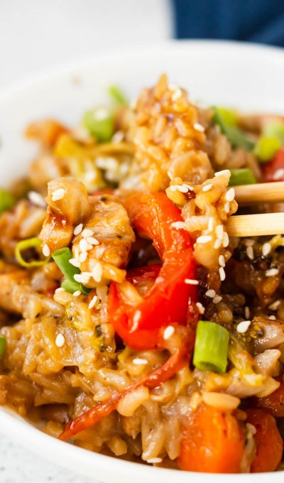Instant Pot Teriyaki Chicken and Rice