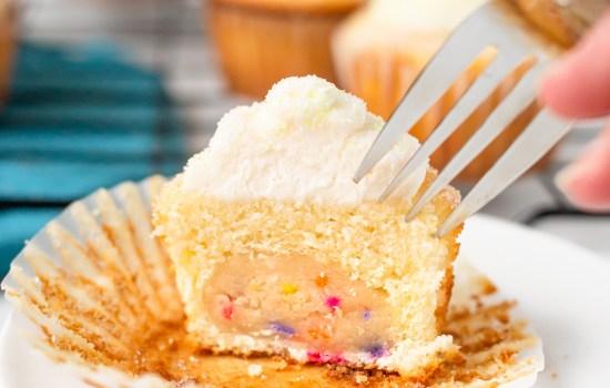 Sugar Cookie Dough Cupcakes