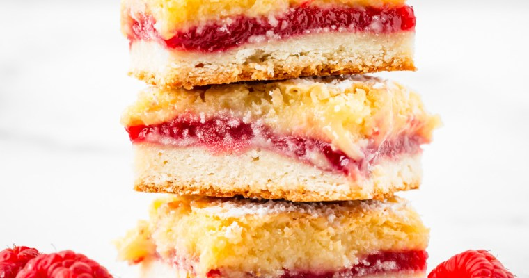 Raspberry Almond Bars