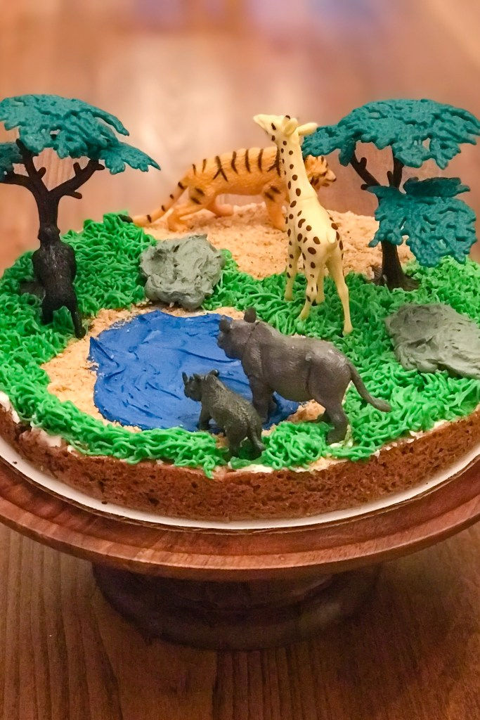 Safari Decorated Cookie Cake