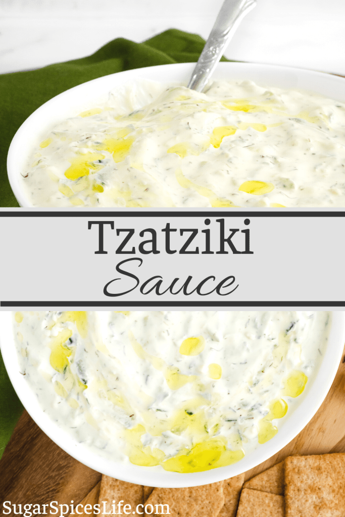 Creamy, tangy cucumber sauce that is perfect as a dip, a salad dressing, or topping for chicken. This Tzatziki Sauce is an easy to make sauce that can elevate multiple dishes!