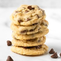 Made with browned butter and lots of chocolate chips, these Favorite Chocolate Chip Cookies, are soft, thick, and addictively tasty!