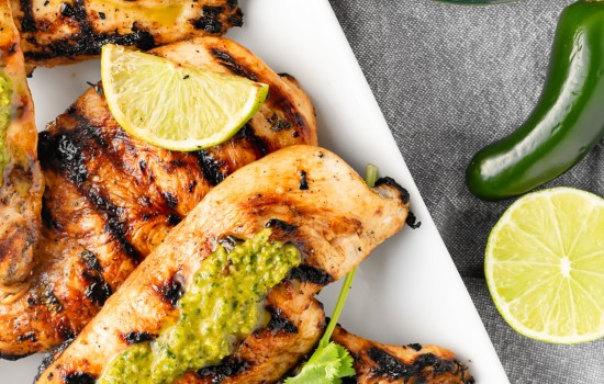 Honey Lime Chicken with Green Sauce