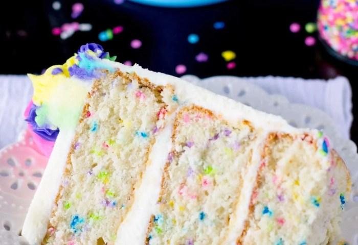 Funfetti Cake From Scratch A Very Merry Unbirthday Sugar Spun Run