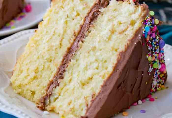 The Best Vanilla Cake Recipe Sugar Spun Run