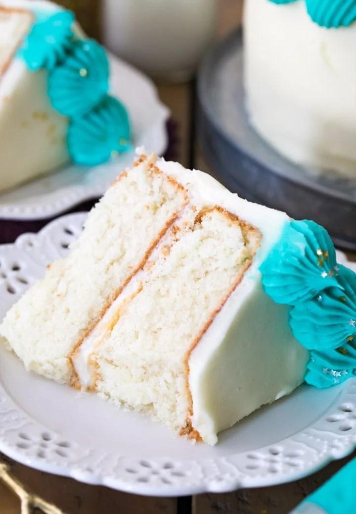 The Best White Cake Recipe Sugar Spun Run