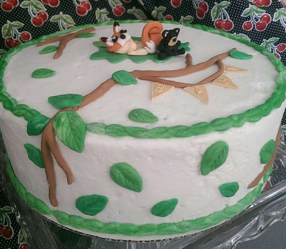 Woodland Themed Baby Shower Cake 2 Sugartime Confections