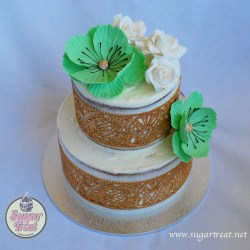 S6. Semi naked with sugar flower and lace