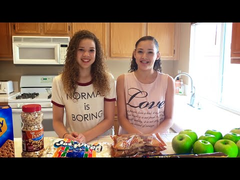 Chocolate Caramel Candy Apples DIY Recipe!!  (Haschak Sisters)