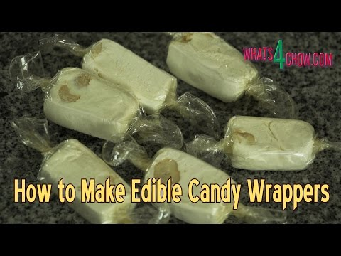 How to Make Edible Candy Wrappers – Edible Cellophane – Making Edible Bioplastic