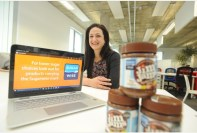 17/02/16 - Rend Platings pictured at the Future Business centre in Cambridge with her Sugar Wise logo. Picture: Keith Jones