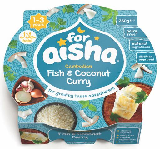 For Aisha Cambodian Fish and Coconut Curry (Tray Meal)