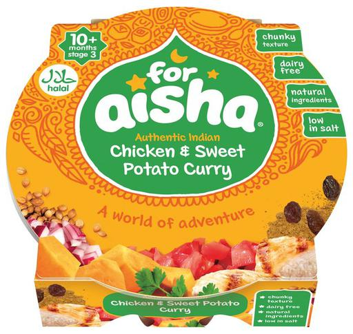 For Aisha Chicken and Sweet Potato Curry (Tray Meal)