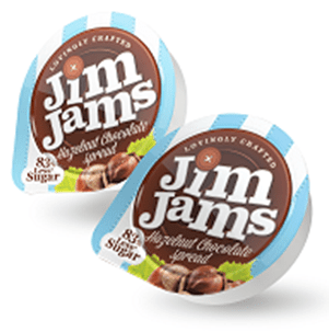 JimJams No Added Sugar Hazelnut Chocolate Spread - 15g portions