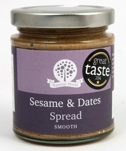 Nutural World Sesame and Dates spread - Smooth