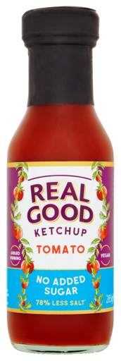 Real Good Tomato Ketchup glass bottle