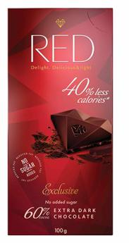 Red Delight Extra Dark Chocolate by Chocolette