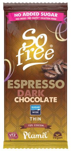 So free No added sugar Dark Espresso Thin by Plamil