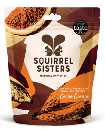 Squirrel Sisters Raw Bites, Share Bags: Cacao Orange