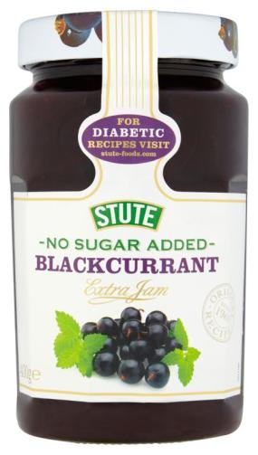 Stute No Sugar Added Blackcurrant Jam