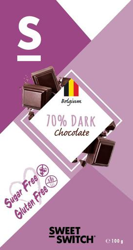 SWEET-SWITCH 70% Dark Chocolate Tablet