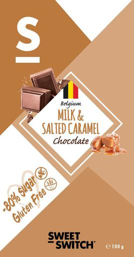 SWEET-SWITCH Milk Chocolate & Salted Caramel Tablet Stevia
