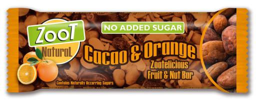 Zoot Natural Cacao & Orange No Added Sugar Fruit & Nut Bar